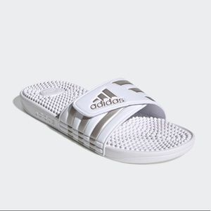 Adidas Adissage Slides Sandals Men's 12 White